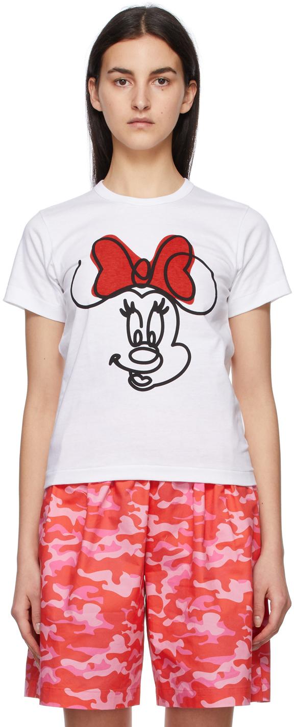Comme des Garçons Girl White Disney Edition Minnie Mouse Smile T-Shirt