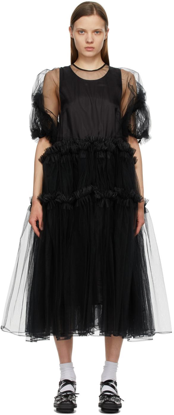 Noir Kei Ninomiya 黑色 Tulle Frill 连衣裙