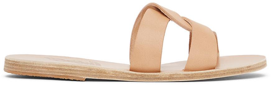 Ancient Greek Sandals Tan Desmos Sandals