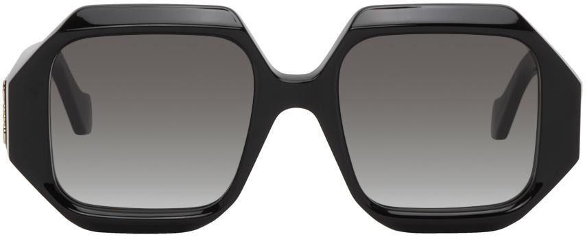Loewe Black Rectangular Chunky Sunglasses