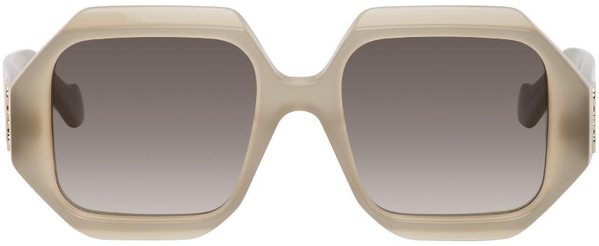 Taupe Chunky Sunglasses