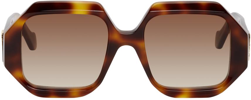 Tortoiseshell Rectangular Chunky Sunglasses
