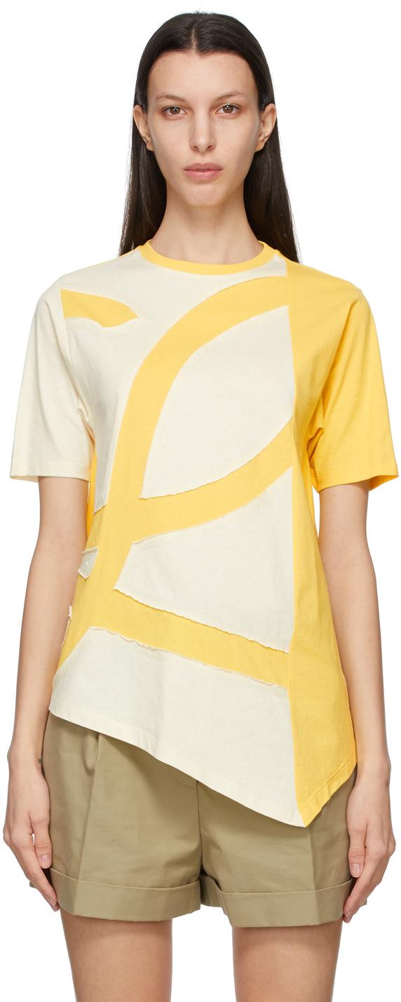 Loewe 黄色 L Logo 大廓形 T 恤
