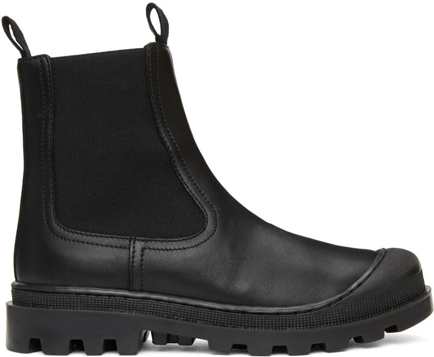 Black Calfskin Chelsea Boots