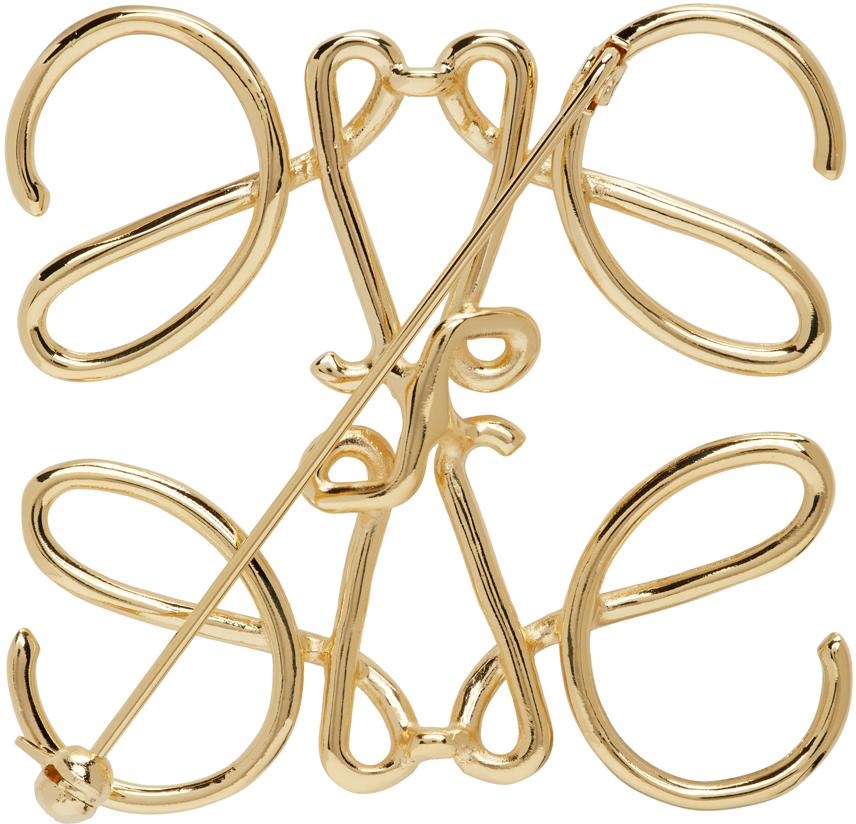Gold Anagram Brooch