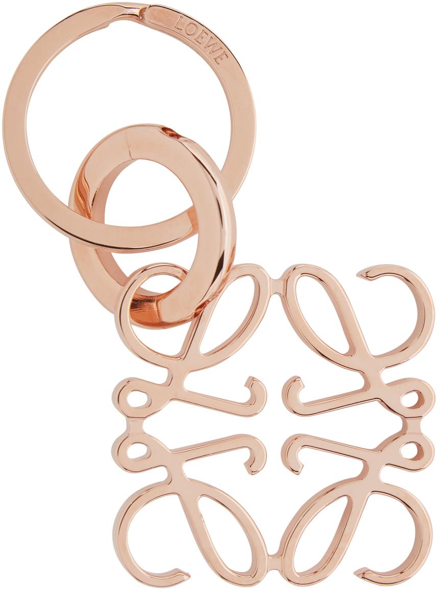 Loewe 玫瑰金色 Anagram 钥匙扣