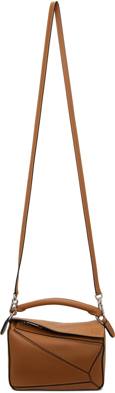 Tan Mini Puzzle Bag