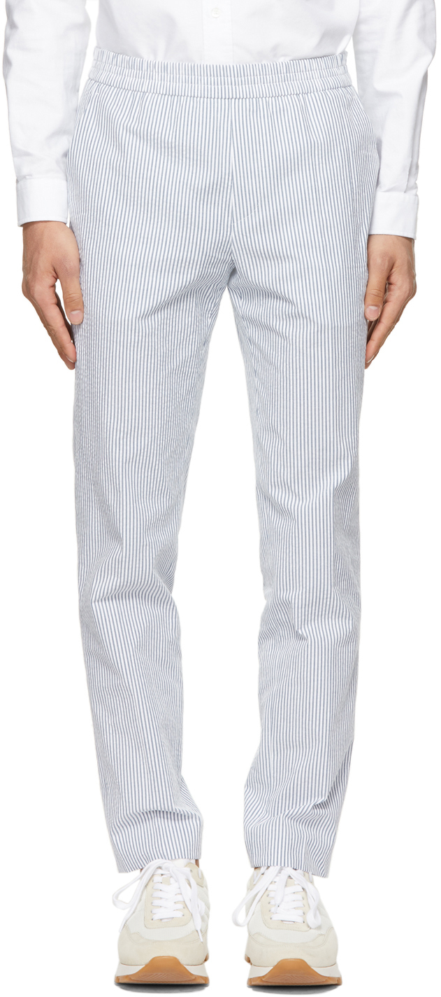 Blue Striped Paolo Trousers