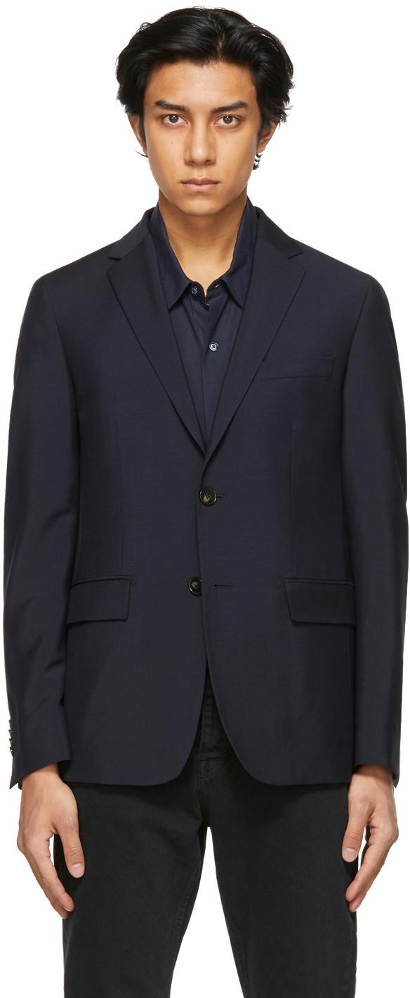 Navy Wool Victor Blazer