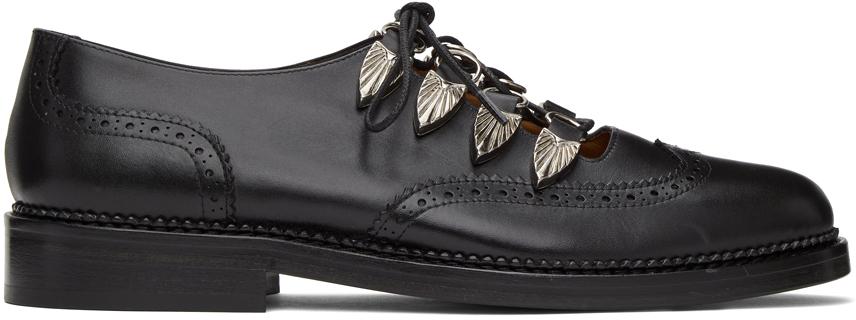 Toga Virilis 黑色 Hard Leather 布洛克鞋