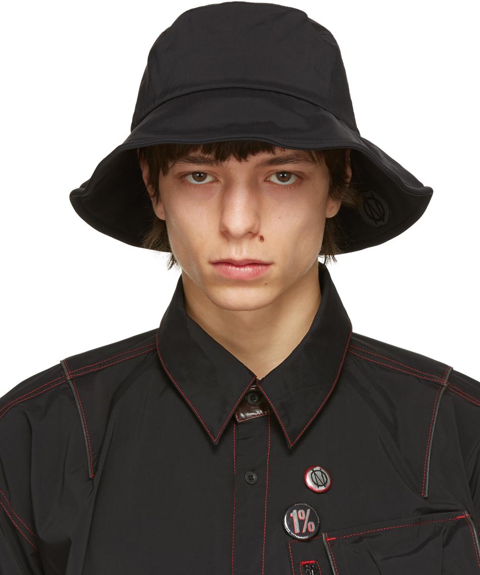 99 IS Black Pocket Bucket Hat 211689M140044