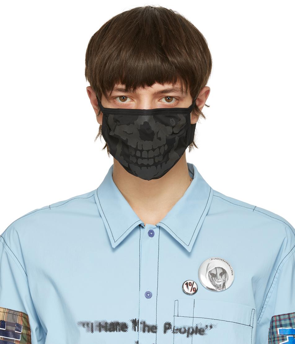 99 IS Black Skull Face Mask 211689M150048