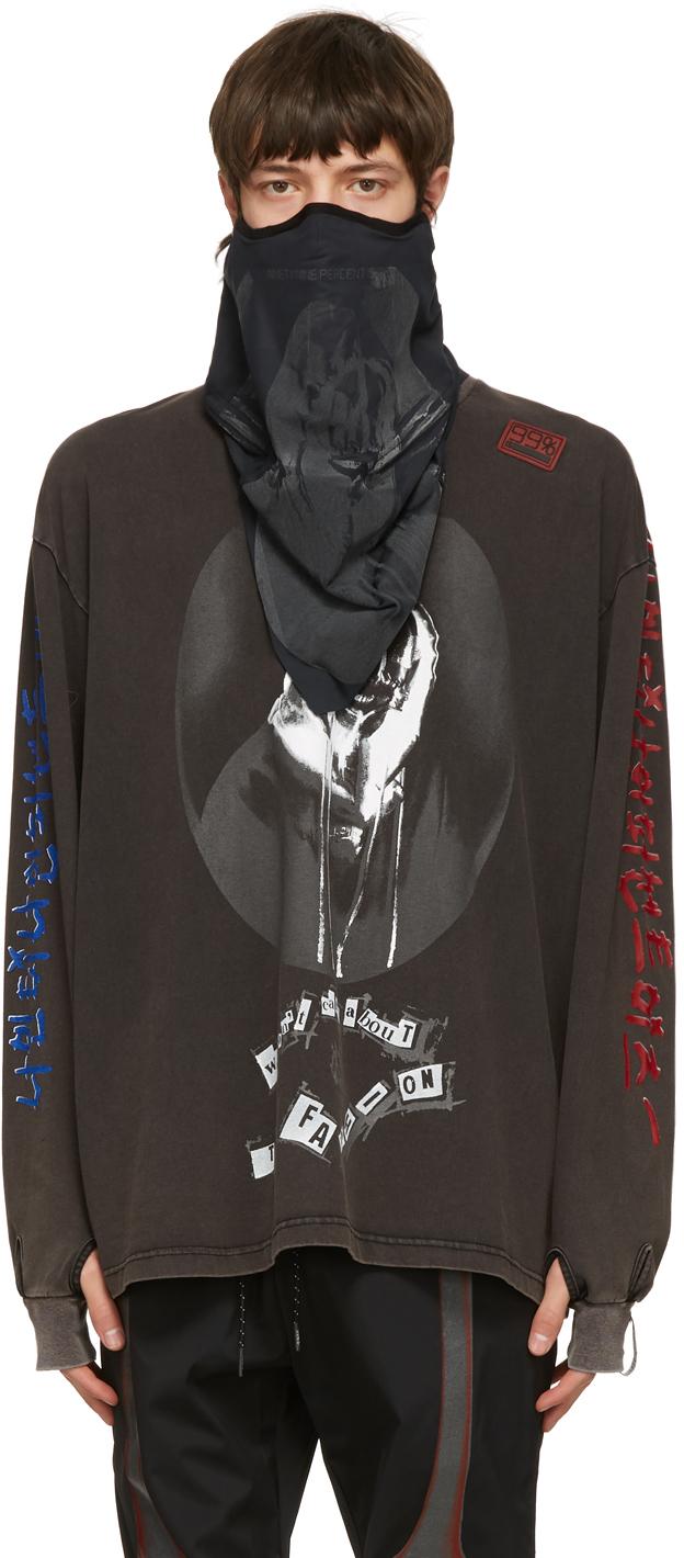99 IS Black Skull Neck Warmer Face Mask 211689M150049
