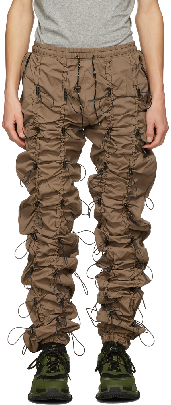 99 IS Brown Reflective Gobchang Lounge Pants 211689M190032