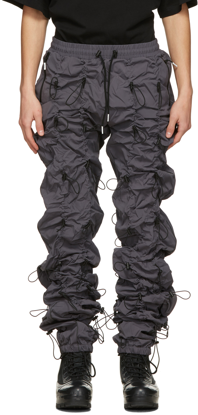 99 IS Grey Black Gobchang Lounge Pants 211689M190039