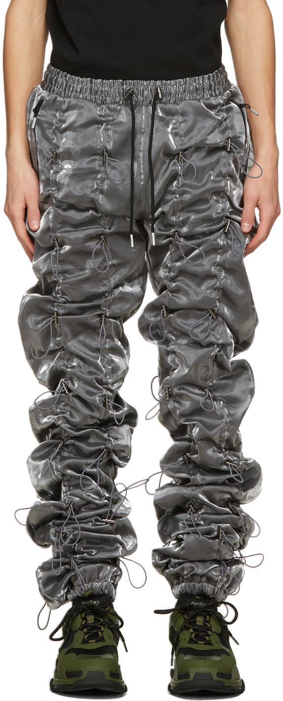 99 IS Silver Black Gobchang Lounge Pants 211689M190040