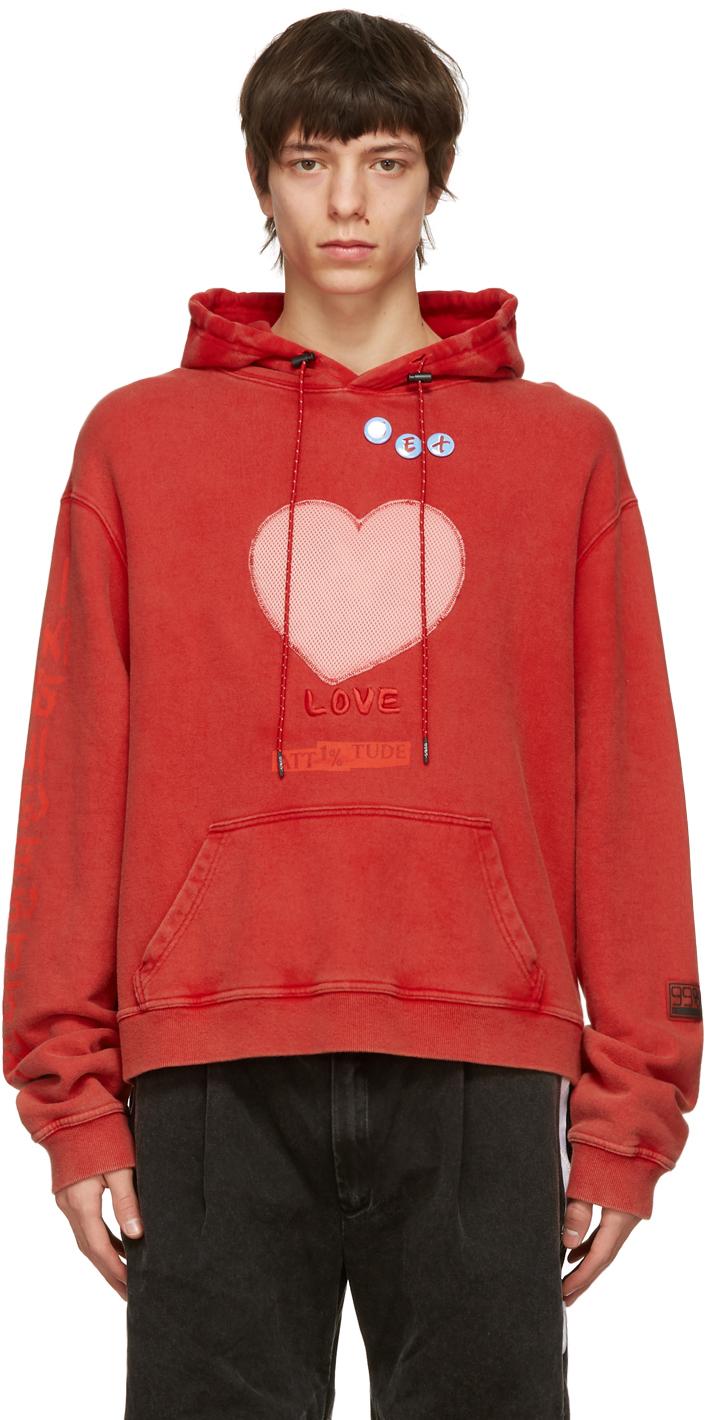 99 IS Red Love Sex Hoodie 211689M202008