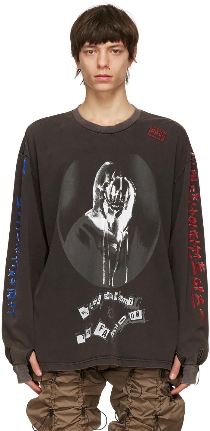 99 IS Black Line Long Sleeve T Shirt 211689M213019