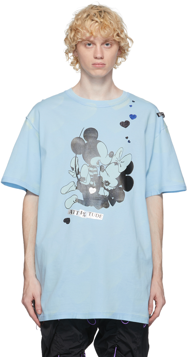99 IS Blue Love In The Dark T Shirt 211689M213020