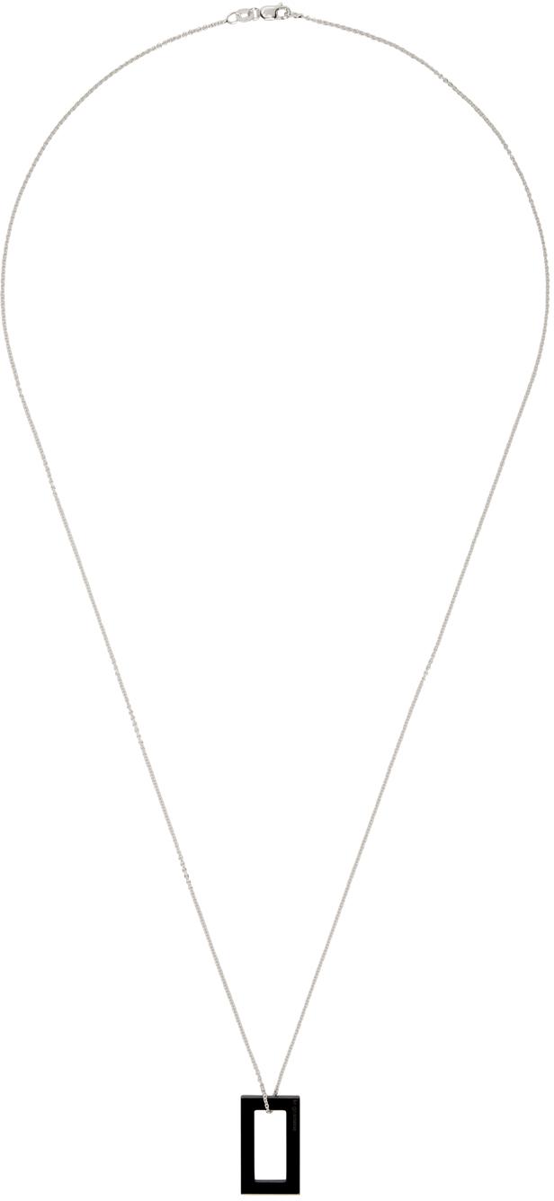 Black Slick Polished 'Le 2.1 Grammes' Pendant