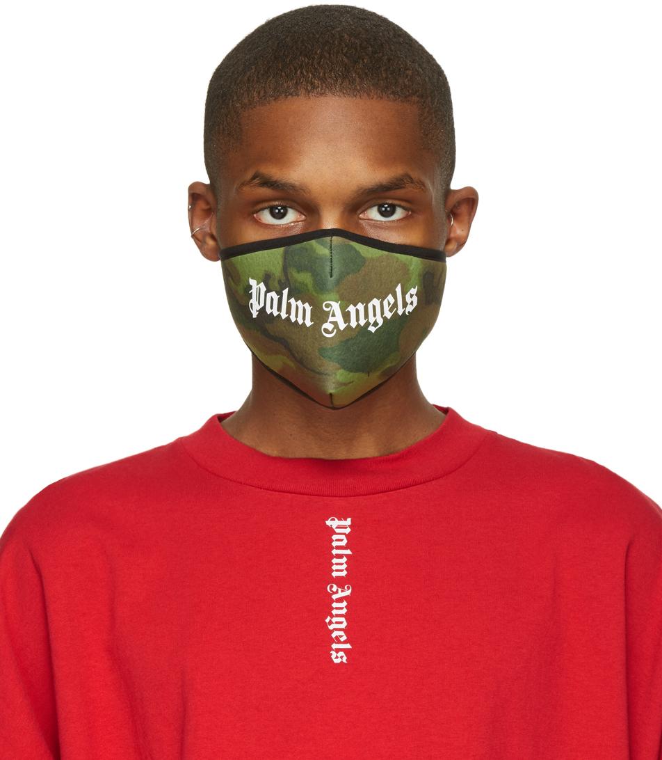 Palm Angels 多色迷彩徽标口罩