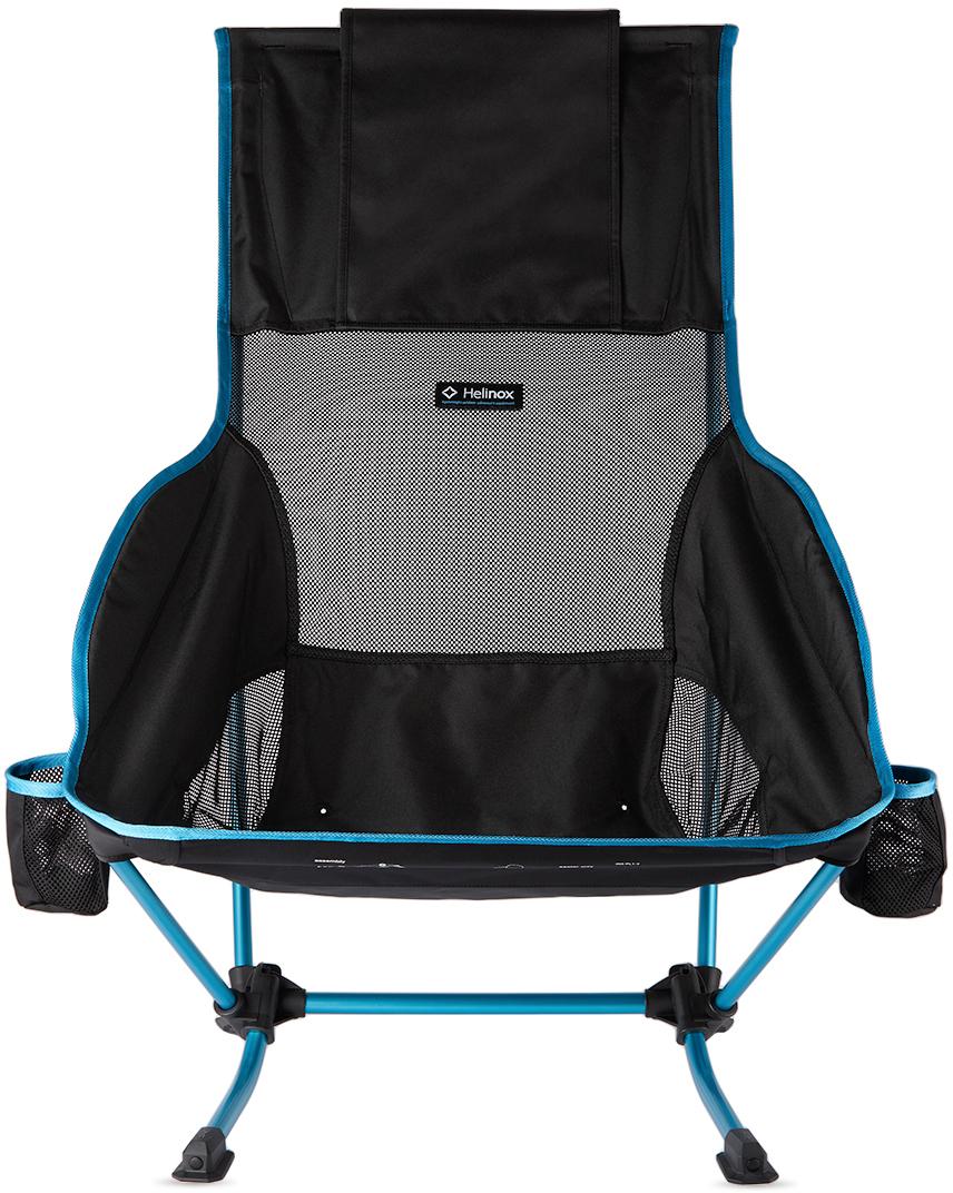 Black & Blue Canvas Playa Chair