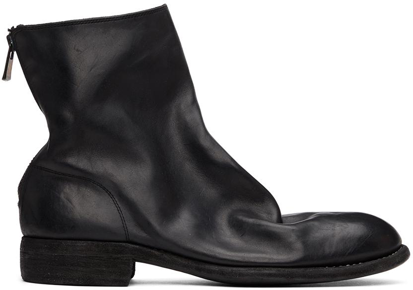 Black Back Zip-Up Boots