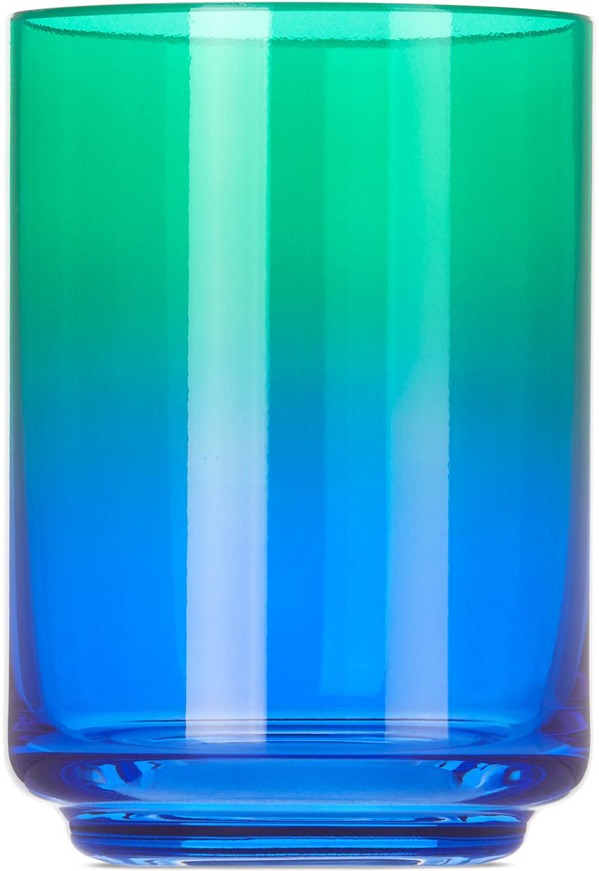 Green & Blue Mykonos Gradient Glass