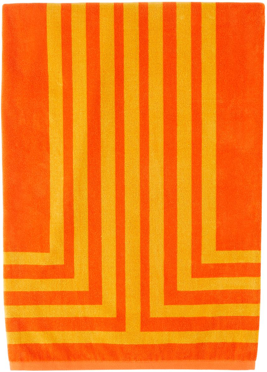 Orange & Yellow Arc Towel