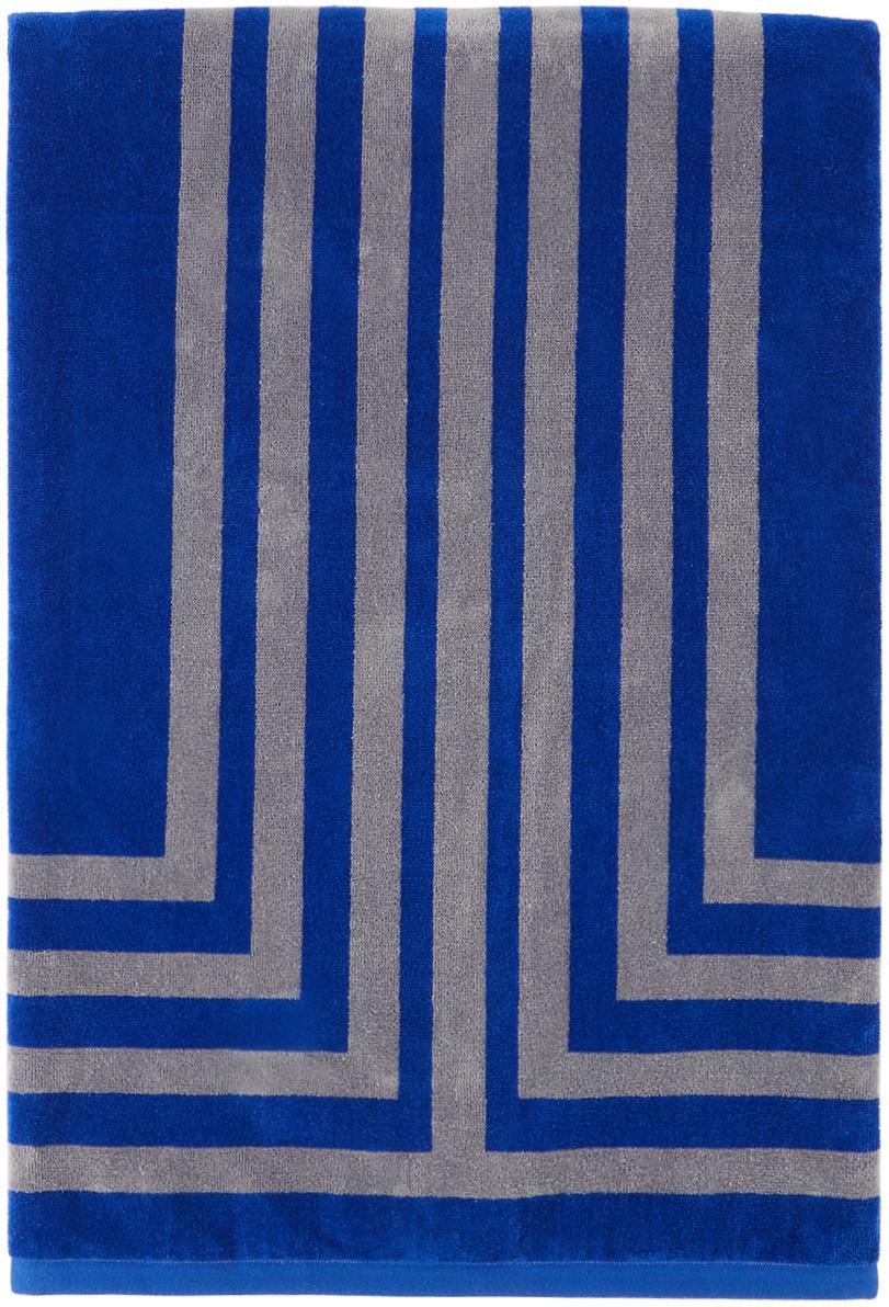 Blue & Grey Arc Towel