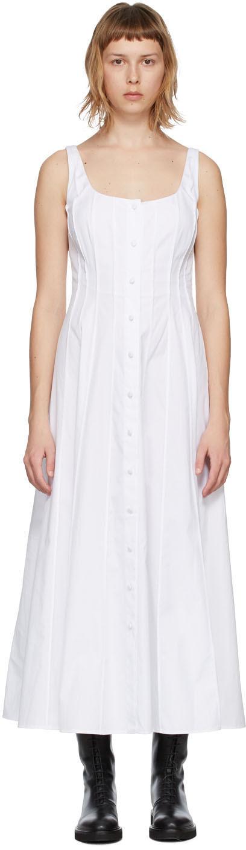 White Sara Poplin Tank Dress