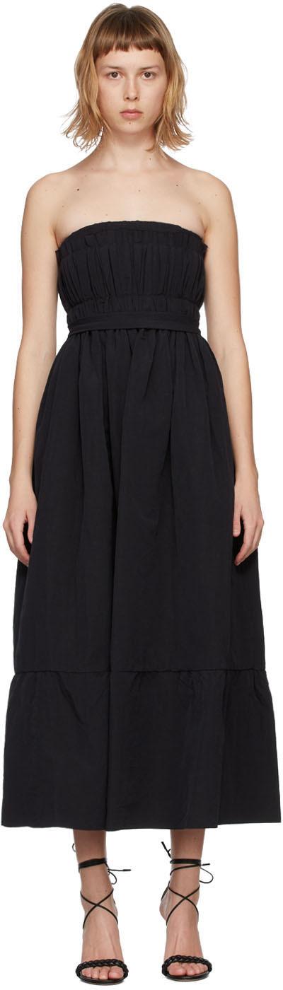 Black Silk Saura Vichy Dress