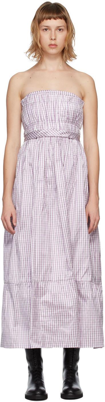 Purple Silk Saura Vichy Dress