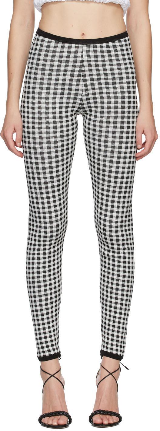 Black & White Gingham Maglia Leggings