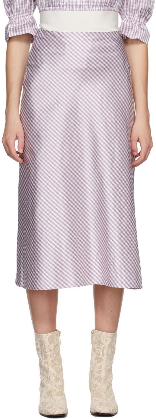 Purple Silk Smilla Vichy Skirt