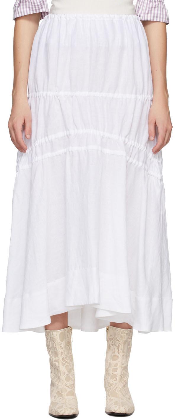 White Linen Susanna Skirt
