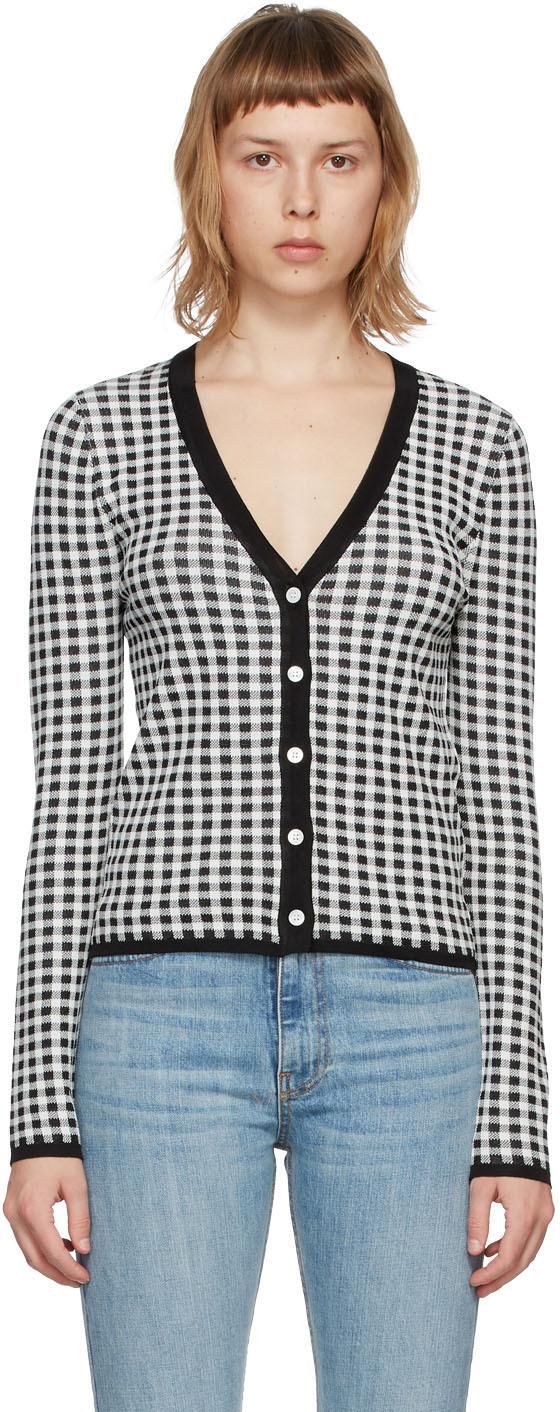 Brock Collection 黑色 & 白色 Sasha Gingham 开衫