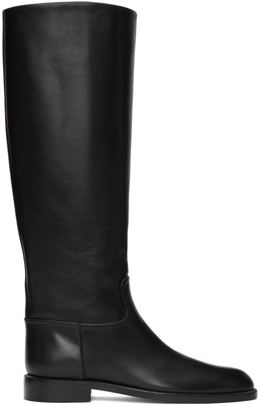 Black Flat Riding Boots