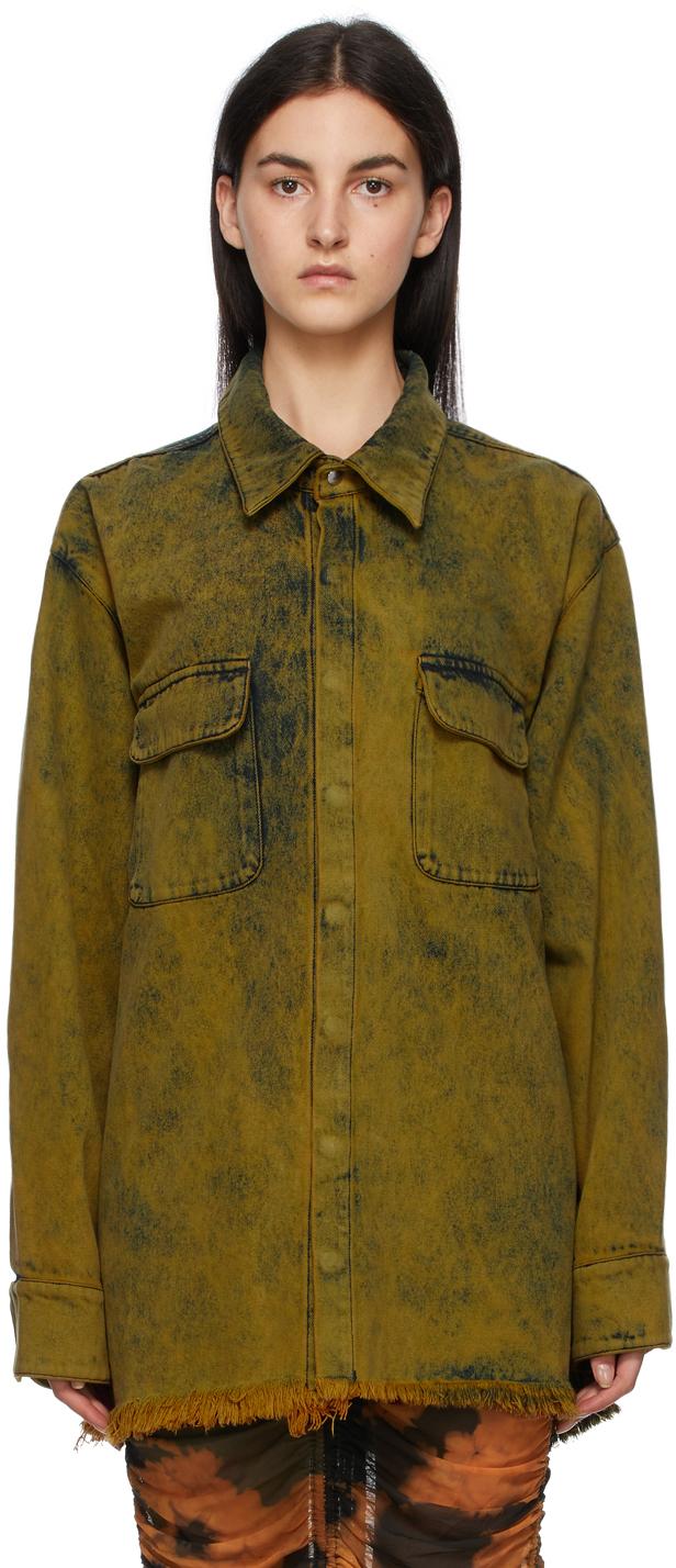 Marques Almeida SSENSE Exclusive Yellow Denim Overshirt