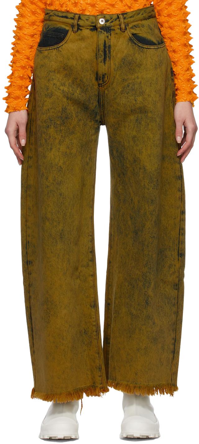 Marques Almeida Yellow Boyfriend Jeans