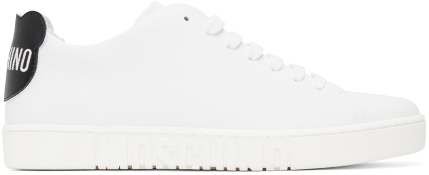 White Logo Patch Sneakers
