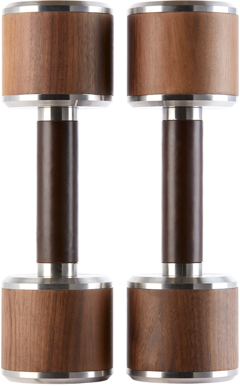 Brown & Silver Mai Dumbbell Set