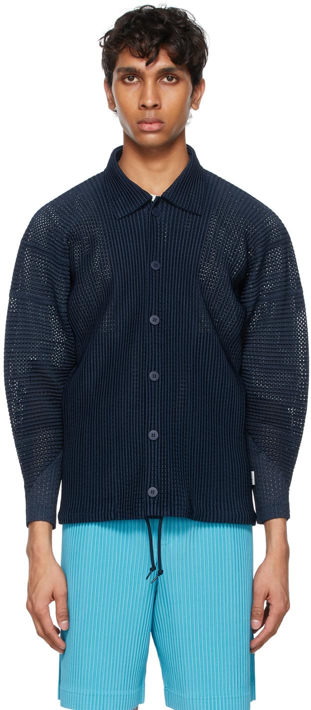 Navy Colorful Mesh Jacket