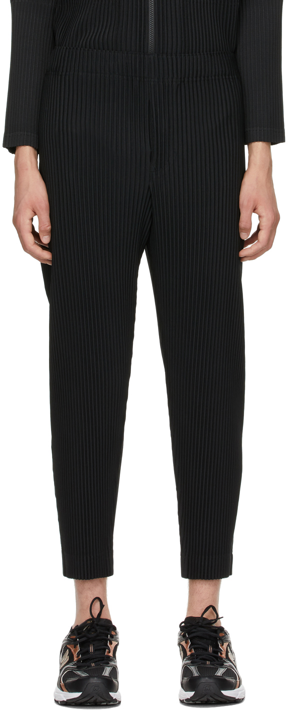 Black Monthly Color March Trousers