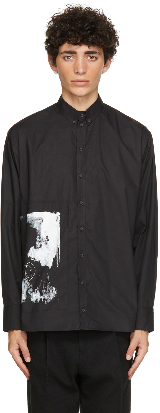 Black Graphic Print Shirt