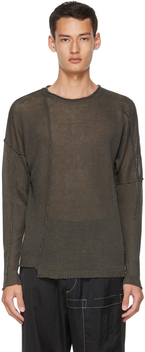 Khaki Linen Knit Sweater