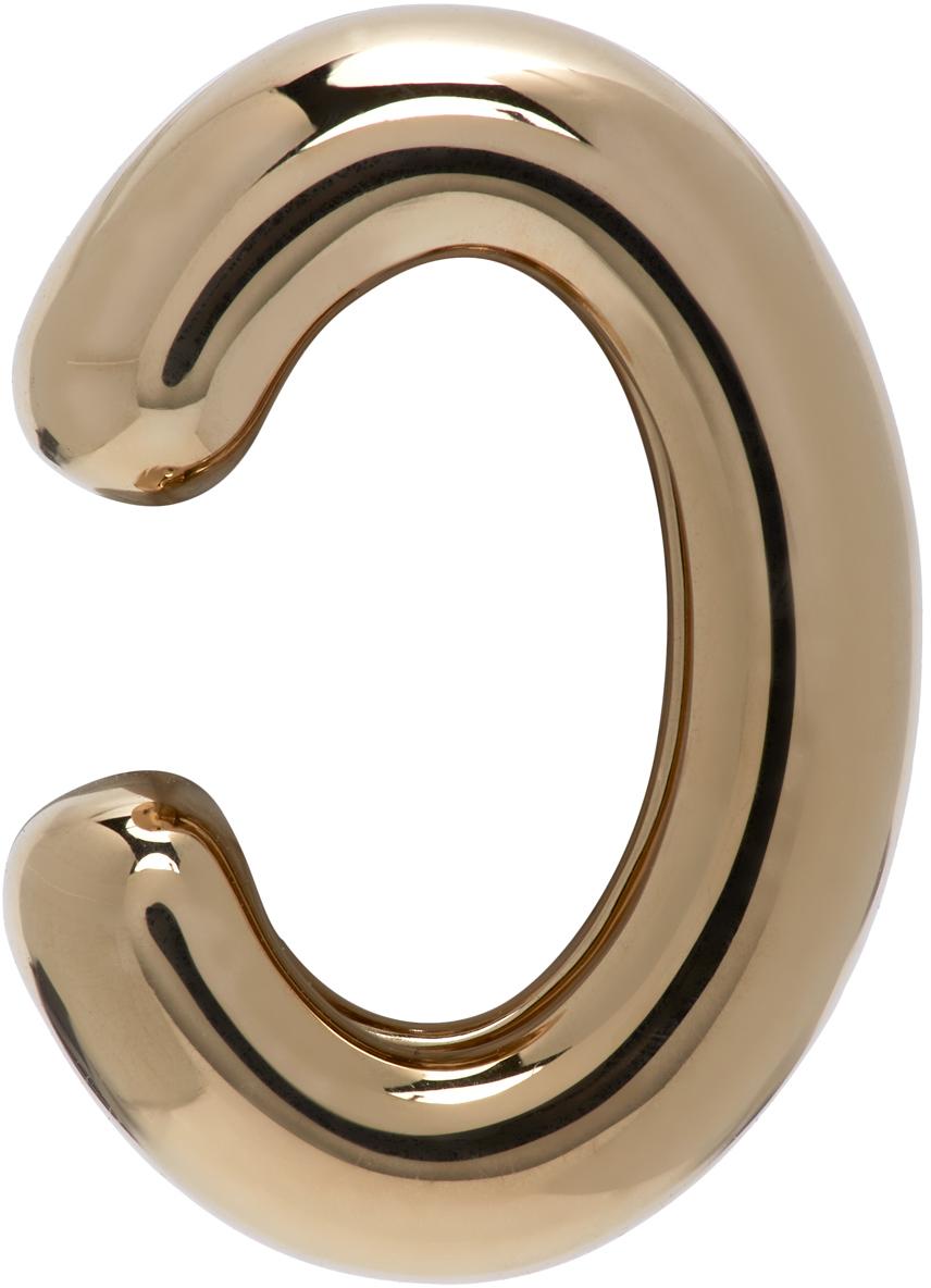 Gold Chunky Tube Ear Cuff