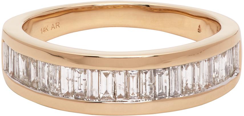 Gold Large Heirloom Baguette Band Ring