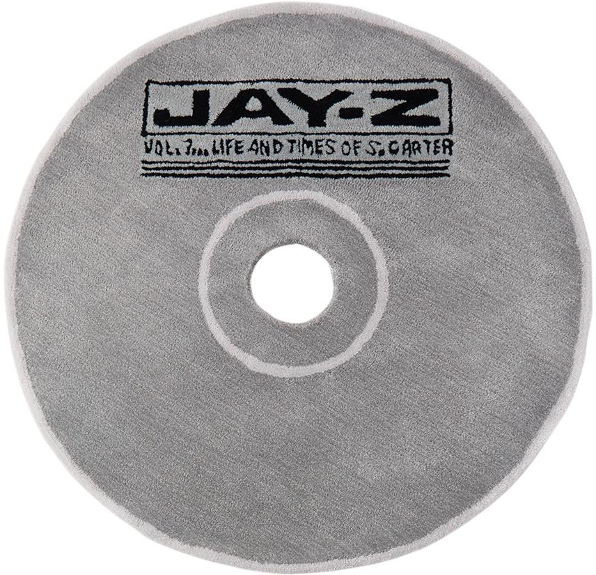 SSENSE Exclusive Grey Handmade CD Rug