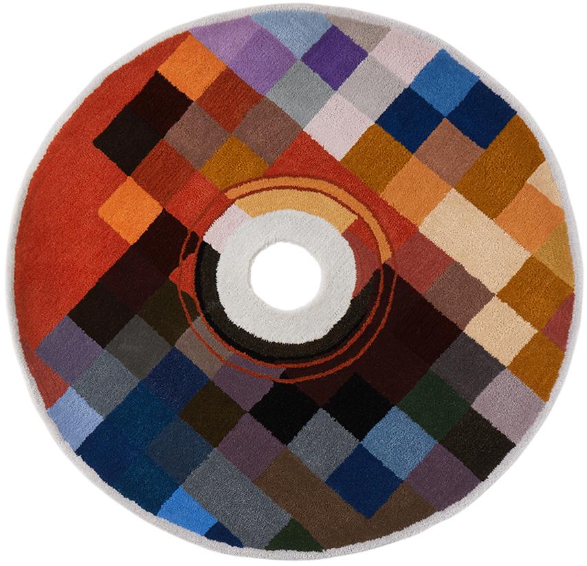 SSENSE Exclusive Multicolor Handmade CD Rug